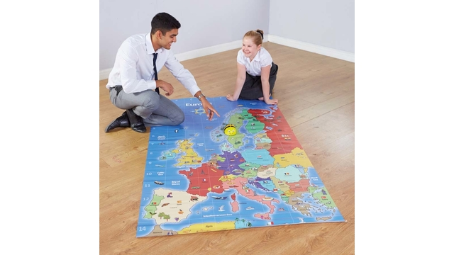 Beebot bluebot europe map mat