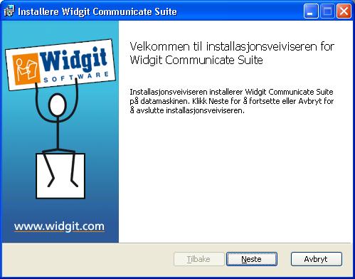 Installasjon av SymWriter Velkommen
