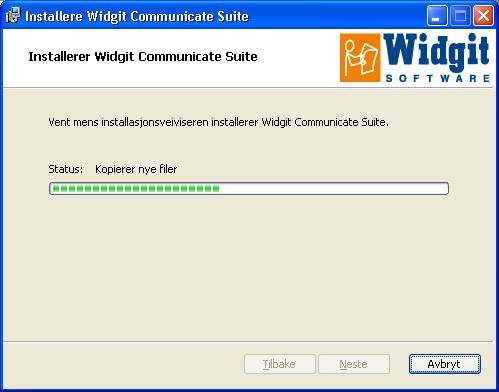 Vent på at filer blir kopiert